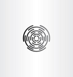 target icon black symbol design vector image