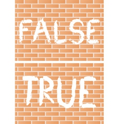 true and false vector image