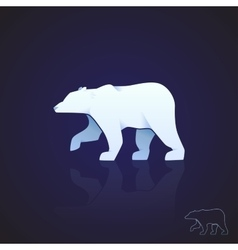 Abstract logo polar bear vector image vector image