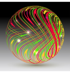 Abstract sphere on a black background vector image vector image