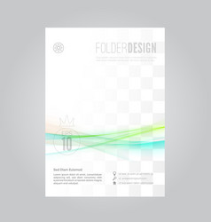 bright swoosh fusion wave business folder vector image vector image