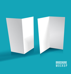 brochure design isolated vector image vector image