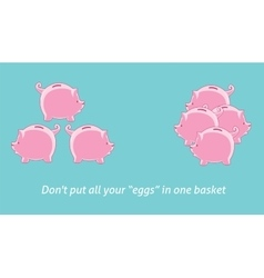 Dont put your egg in one basket vector