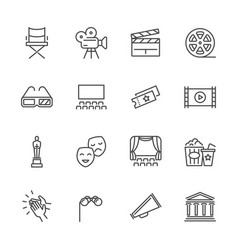 entertainment and performance line icons vector image