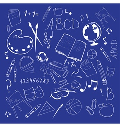 school abstract background vector image
