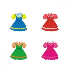 set of children dresses vector image