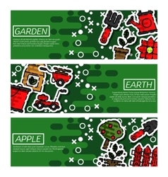 Set of Horizontal Banners about garden vector image vector image