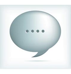 silver speech bubbles vector image vector image