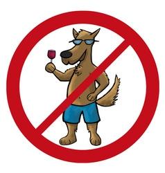 dog no cartoon vector image