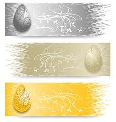 Easter Egg banner vector image
