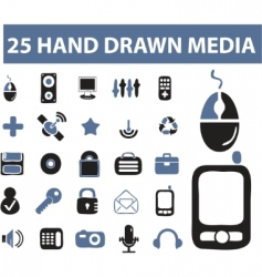 hand drawn signs vector image