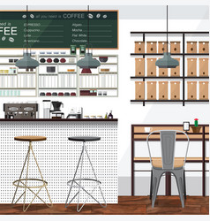 tea and coffee shop business vector image