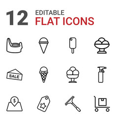 12 product icons vector
