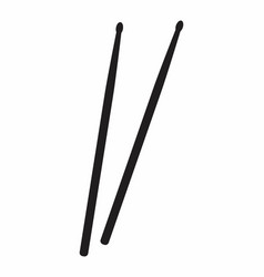 a pair of drumsticks vector image