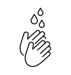 a simple icon for washing hands with water to vector image