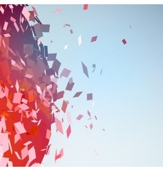 Abstract background with broken surface explosion vector