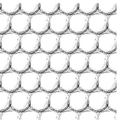 abstract geometric seamless pattern with dots vector image