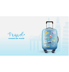 advertising poster for worldwide traveling vector image