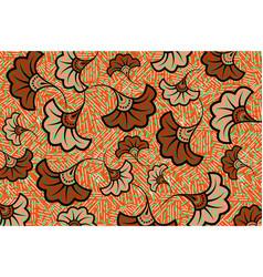 african wax print fabric ethnic overlap flowers vector image
