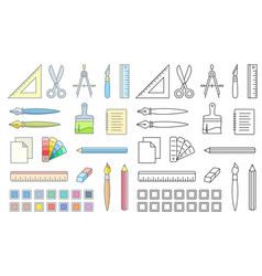 art and office supplies vector image