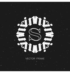 Art-deco frame vector