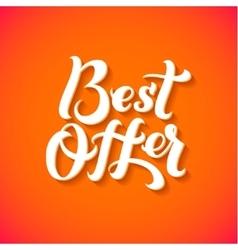 Best Offer Logo Best Offer print on T-shirt vector image