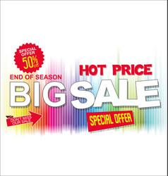 big sale and super offer background retro design 2 vector image
