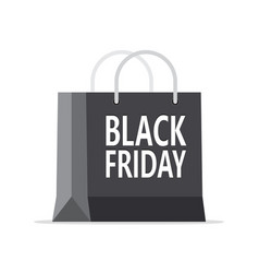 black friday sale design with shopping bag vector image