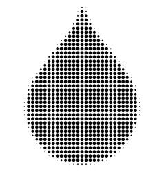 black pixel drop icon vector image