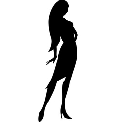black young woman silhouette vector image