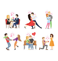 boyfriend girlfriend rest restaurant dance tango vector image