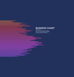 business graph on a white background chart vector image