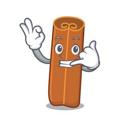 call me cinnamon mascot cartoon style vector image