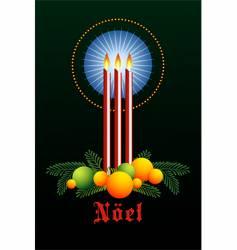 candelit noel vector image