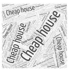 Cheap house Word Cloud Concept vector