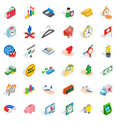 checkout icons set isometric style vector image