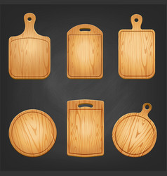 Chopping board set vector