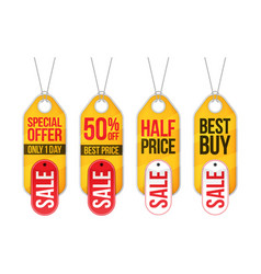 Collection of sale labels price tags banners vector