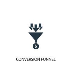 Conversion funnel icon simple element vector