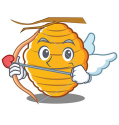 Cupid bee hive character cartoon vector