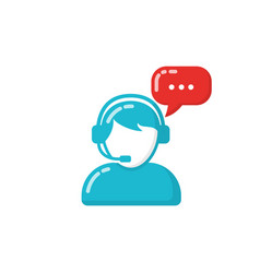 Customer support or service agent vector