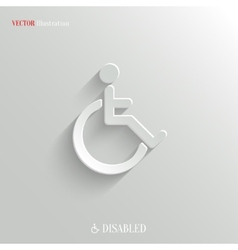 Disabled icon - white app button vector image