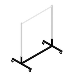 Empty clothing wardrobe rack isometric view vector