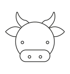 farm cow isolated icon vector image