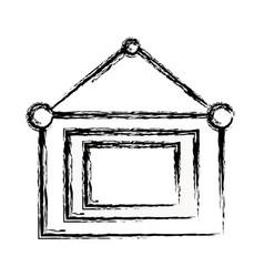 Figure emblem notice information hanging vector