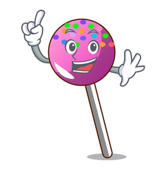 Finger lollipop with sprinkles mascot cartoon vector