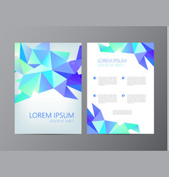 flyer brochure abstract design 2 sides vector image