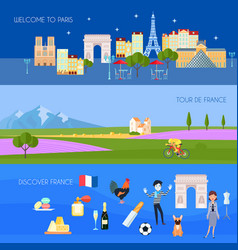 France banners set vector