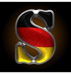 Germany metal figure s vector