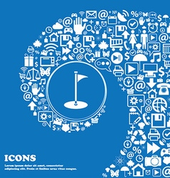 Golf icon Nice set of beautiful icons twisted vector